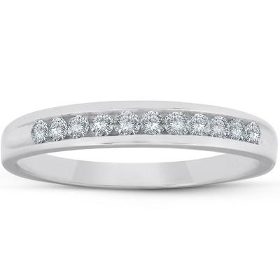 Pompeii3 1/4ct Diamond Platinum Wedding Anniversary Guard Womens Ring