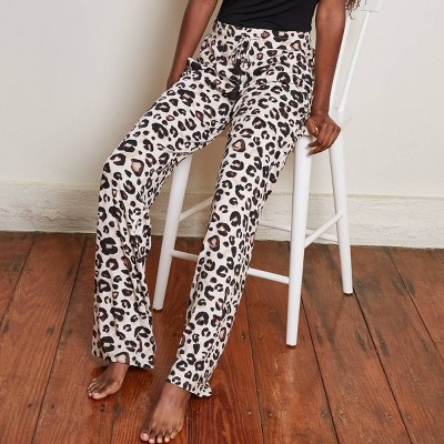 Women's Animal Print Long Length Beautifully Soft Pajama Pants - Stars Above™ Oatmeal