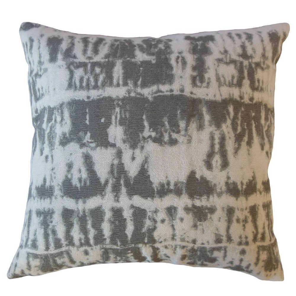 Image of Barmer Pattern Square Throw Pillow Gray - Pillow Collection