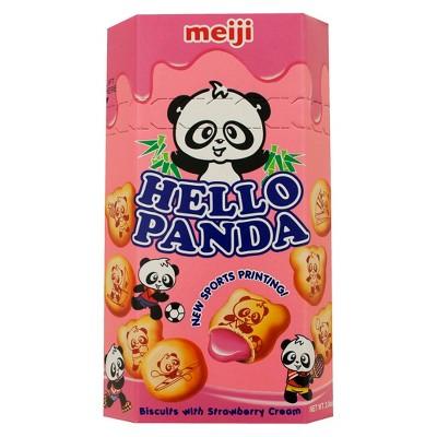 Meiji Hello Panda Strawberry Cream Biscuits - 2oz