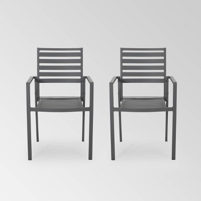 Cape Coral 2pk Aluminum Modern Dining Chair - Christopher Knight Home