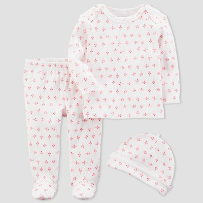 Baby Girls' 3pc Floral Set - little planet™ organic by carter's® Pink 6M