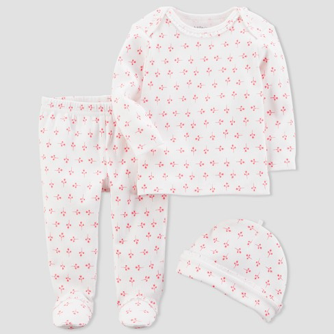 Baby Girls' 3pc Floral Set - little planet™ organic by carter's® Pink 6M - image 1 of 1
