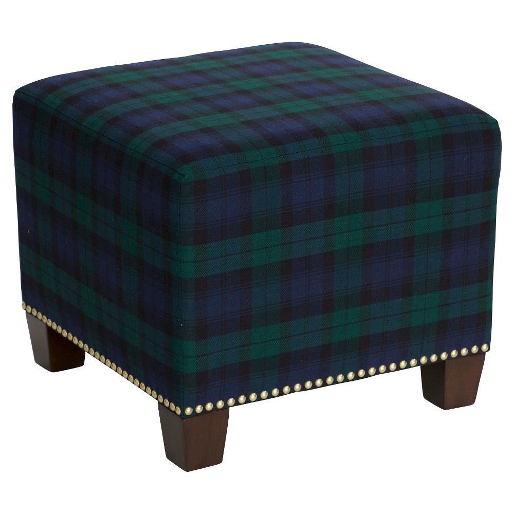 Ottoman - Blue - Skyline Furniture