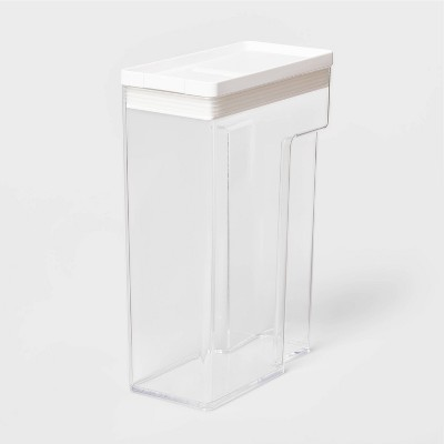 """8""""W X 4""""D X 11.5""""H Plastic Food Storage Container With Snap Lid Clear - Made By Design™"""
