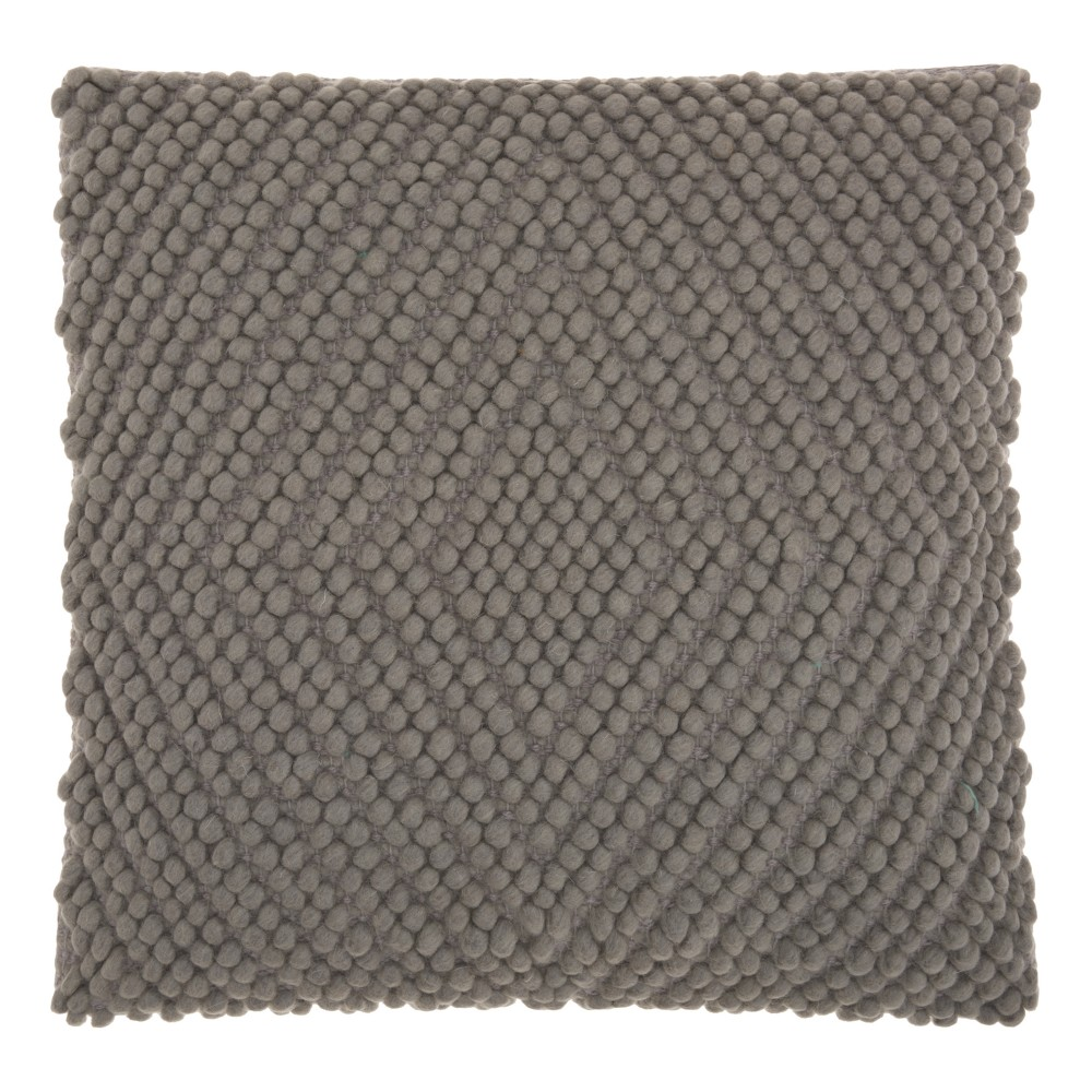 Image of Light Gray Diamond Throw Pillow - Mina Victory