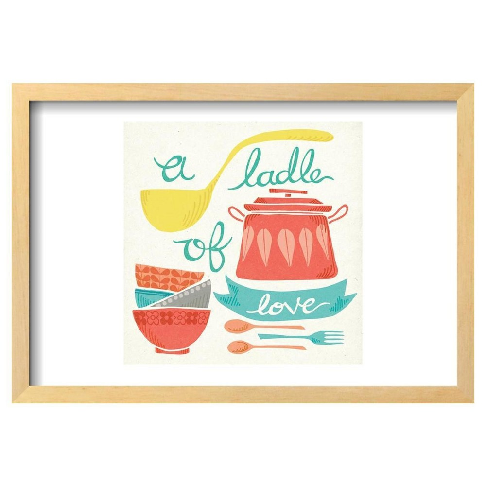 A Ladle of Love by Mary Urban Framed Poster 19