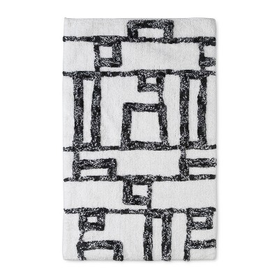 32 x20  Geometric Bath Rug Black/White - Project 62™