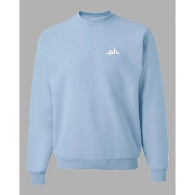 PH by The PHLUID Project Gender Inclusive Crew Neck Sweatshirt - Light Blue