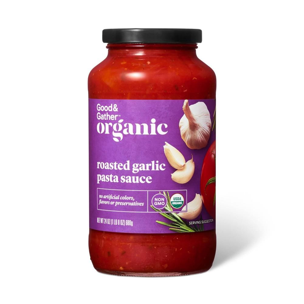 Organic Roasted Garlic Pasta Sauce 24oz Good 38 Gather 8482