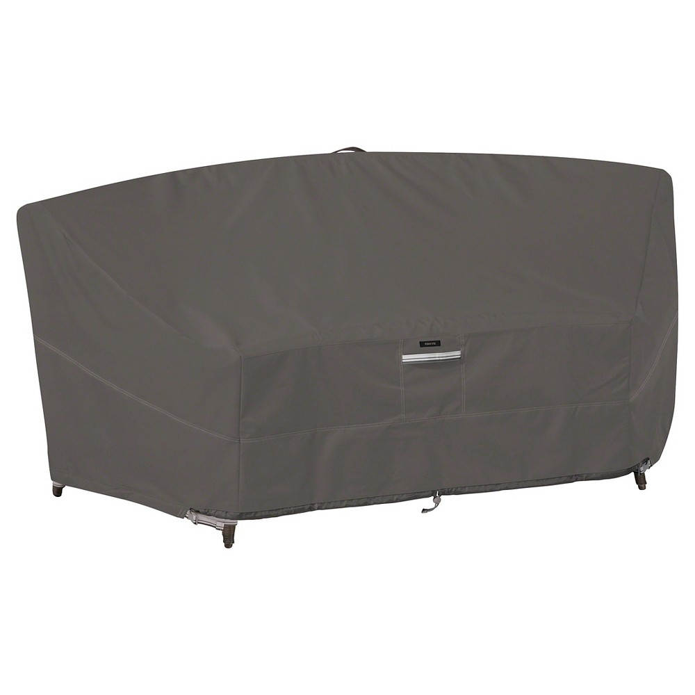 Image of Ravenna Patio Curved Modular Sectional Sofa Cover - Dark Taupe - Classic Accessories