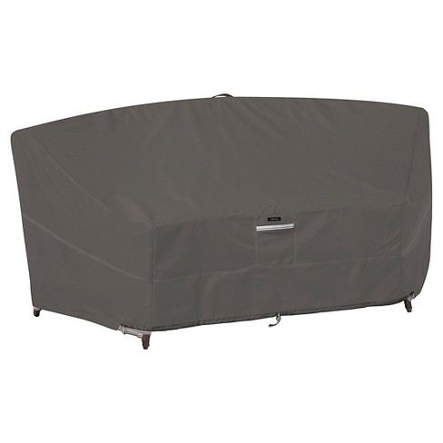 Ravenna Patio Curved Modular Sectional Sofa Cover - Dark Taupe - Classic Accessories - image 1 of 4