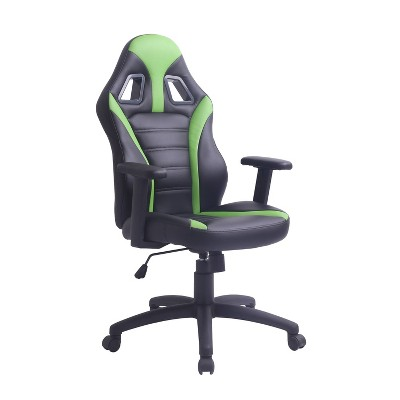 Adjustable Swivel Gaming or Office Chair Black/Green - AC Pacific