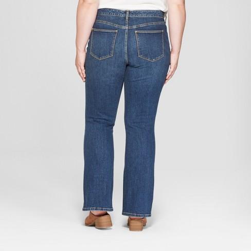 5d5bb9865341b Women s Plus Size Skinny Bootcut Jeans - Universal Thread™ Dark Wash 18W    Target