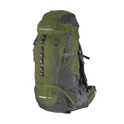 Stansport Adjustable Suspension Internal Frame Hiking and Camping Backpack 70+10L