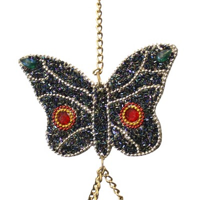 "Home & Garden 33.0"" Mosaic Butterfly Windchimes Spring Summer Ring Ganz  -  Bells And Wind Chimes"