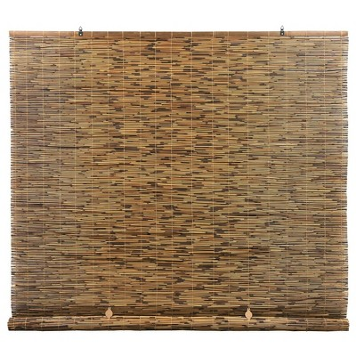 """60"""" x 72"""" Cord-Free Natural Rollup Blinds Cocoa"""