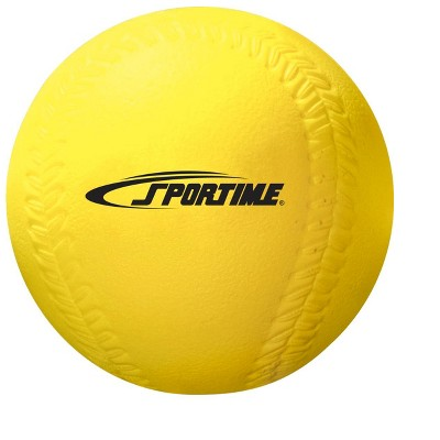 Sportime Coated Foam Softball, 3-7/10 Inches, 4 Ounces, Yellow