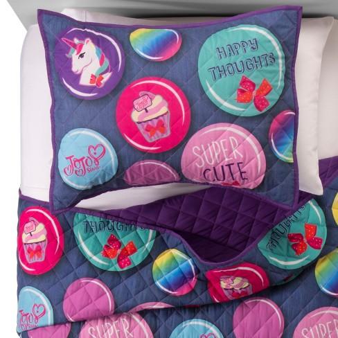 Jojo Siwa Purple Blue Quilt Set Twinfull Target