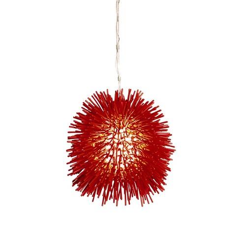 """Urchin 9"""" Mini Pendant - Super Red - image 1 of 3"""
