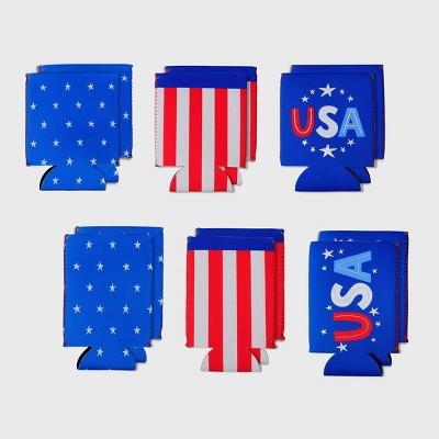12ct Can Cooler Star/Stripes/USA - Bullseye's Playground™
