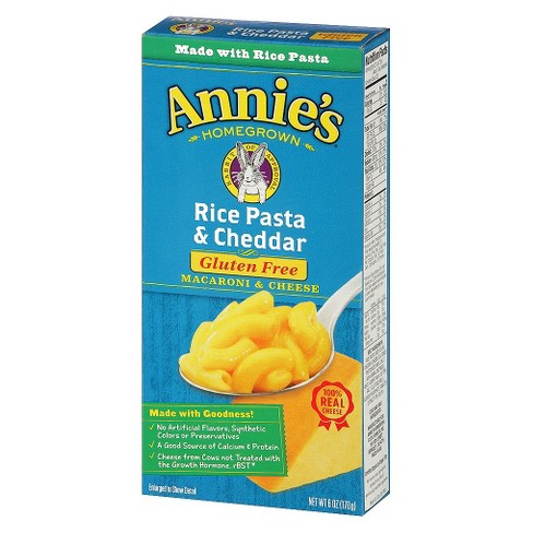 Annie's Gluten Free Rice Pasta & Cheddar Macaroni & Cheese 6 oz