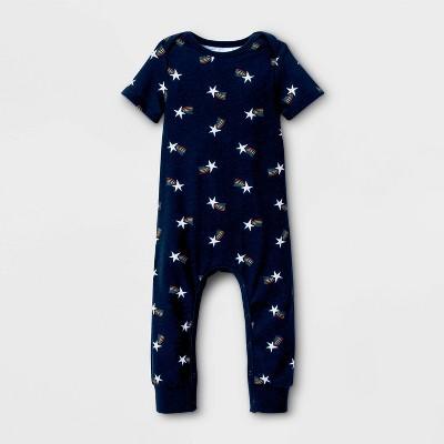 Pride Gender Inclusive Shooting Star Baby Romper - Federal Blue 6-9M