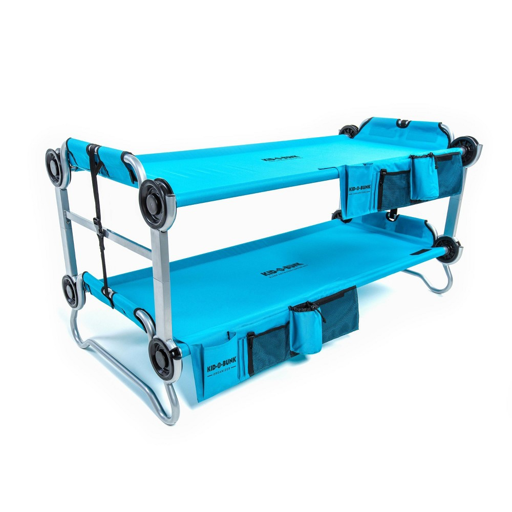 Image of Disc-O-Bed Kid-O-Bunk with Organizers Tropical Teal - Twin, Adult Unisex, Blue