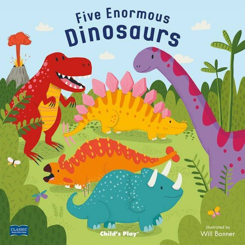 Five Enormous Dinosaurs - (Classic Books with Holes 8x8) (Paperback) - image 1 of 1
