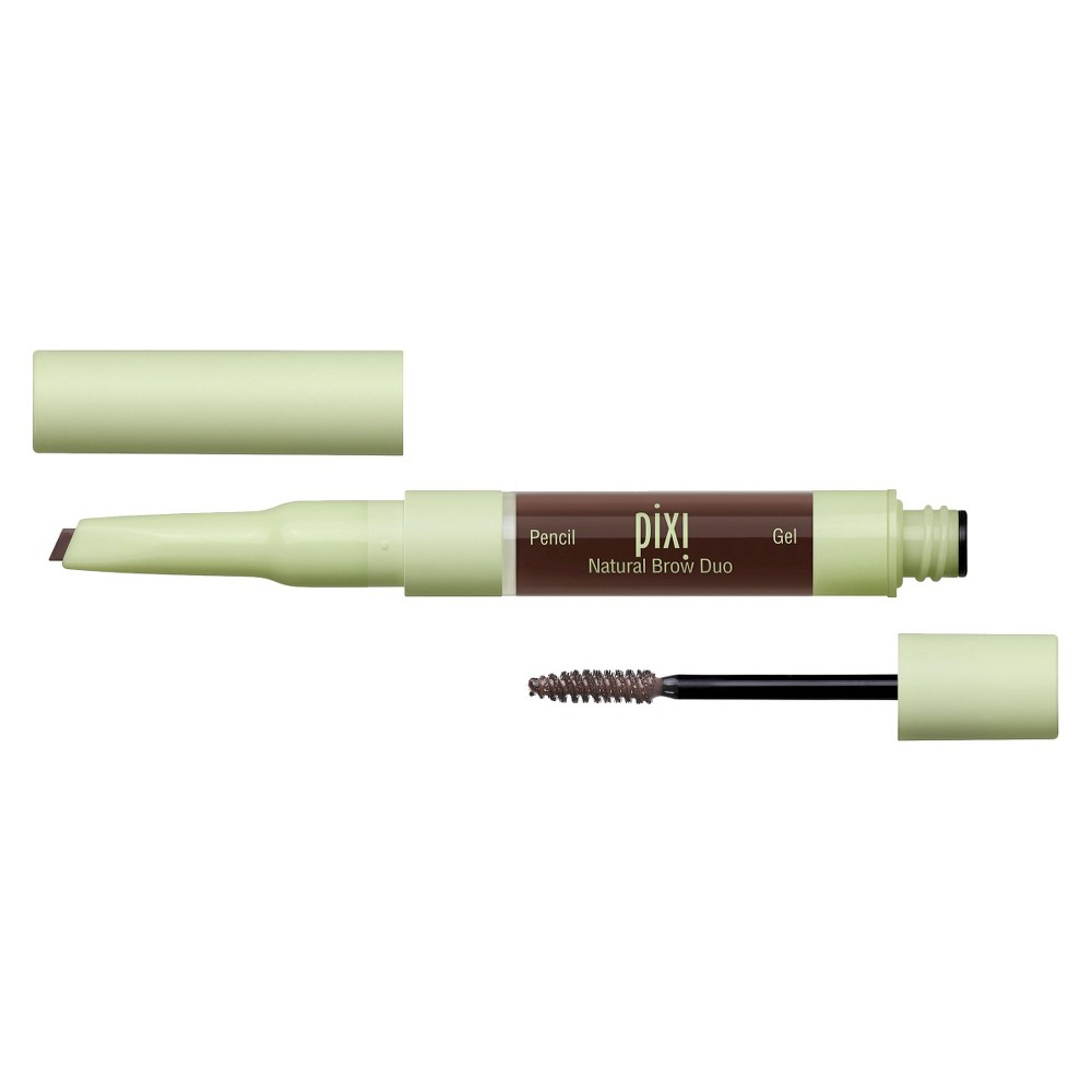 Pixi By Petra Natural Brow Duo - Deep Brunette .084 fl oz