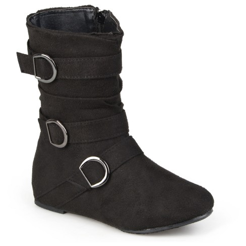 Girls' Hailey Jeans Co. Girls' Buckle Suede Boots - image 1 of 5