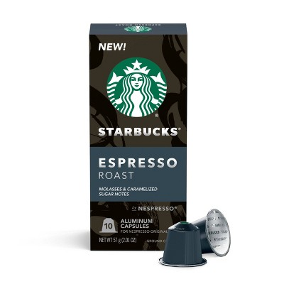 Starbucks Nespresso Espresso Roast Capsules- 10ct/2.01oz
