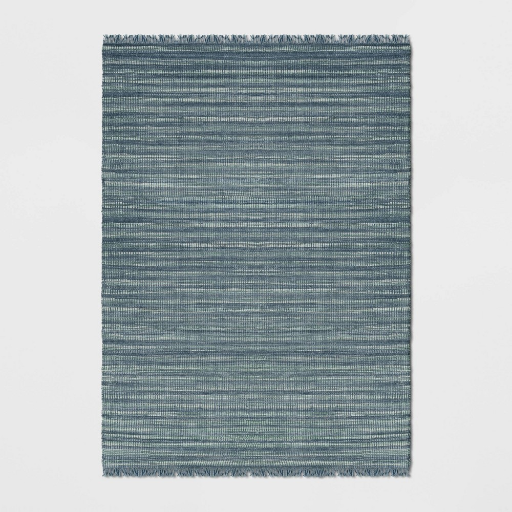 7'X10' Greenvale Jute Stripe Area Rug Blue - Threshold was $299.99 now $149.99 (50.0% off)