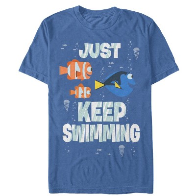 Men's Finding Dory Just Keep Swimming T-Shirt