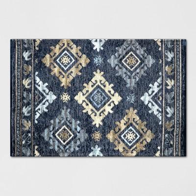 Indigo Tapestry Woven Rug - Threshold