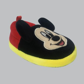 Toddler Boys' A-line Slipper Mickey Mouse - Black XL(11/12)