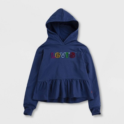 Levi's® Toddler Girls' Cropped Ruffle Hoodie Sweatshirt