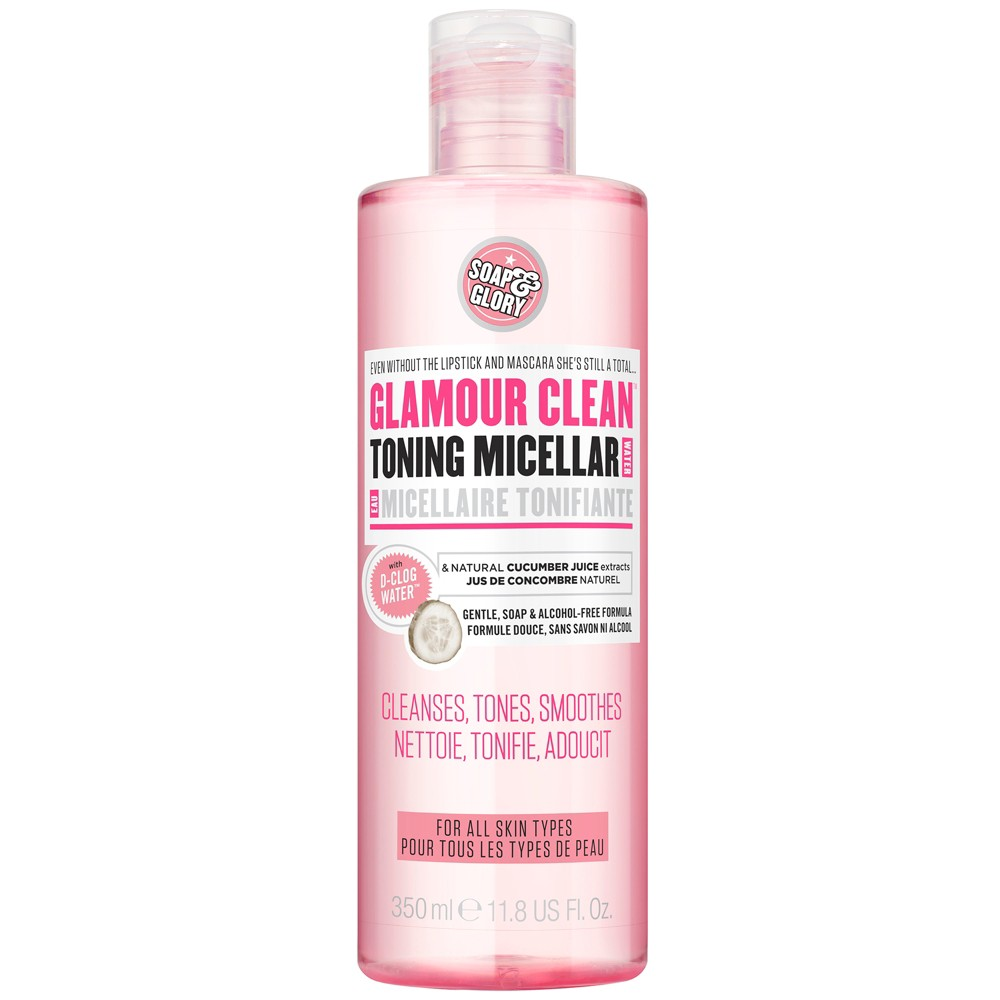 Image of Soap & Glory Glamour Clean 5-in-1 Magnetizing Micellar Make Up Remover - 11.8oz