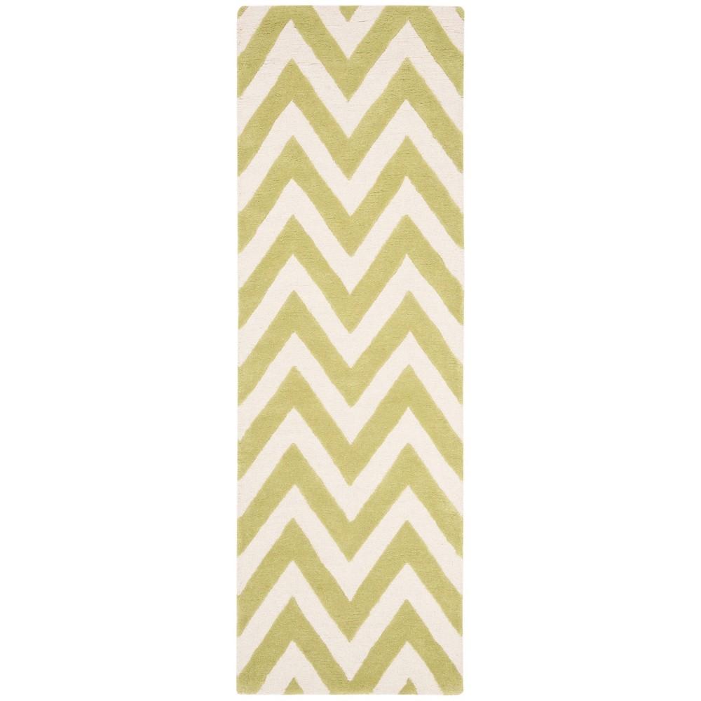 Dalton Textured Rug - Green / Ivory (2'6 X 8') - Safavieh, Green/Ivory