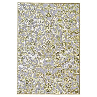 """2'2""""x4' Jacquard Woven Accent Rugs Pewter/Dark Green - Weave & Wander"""