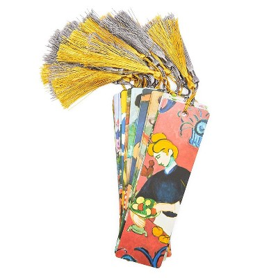 """24-Count Bookmarks, Henri Matisse Art Cardstock Page Markers with Tassel, 7""""x2"""""""