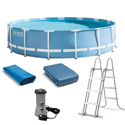 Intex 15 Feet X 42 Inches Prism Frame Above Ground Swimming Pool Set W Pump Target