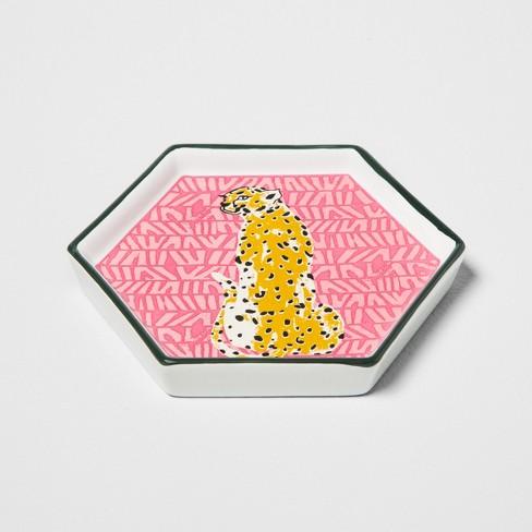Hexagon Jewelry Storage Tray Leopard - Opalhouse™ - image 1 of 1
