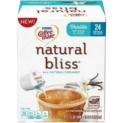 Coffee Mate Natural Bliss Vanilla Creamer - Single Serve Pods - 24ct