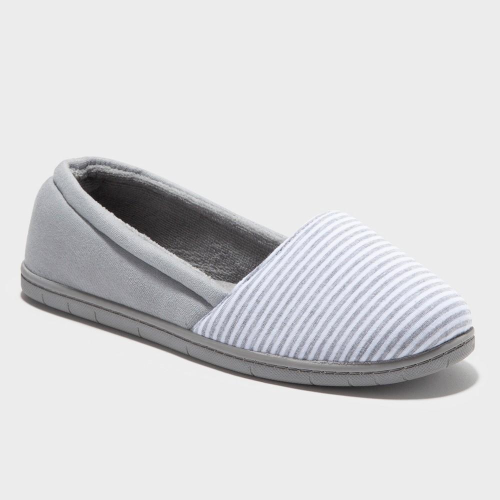 Women's Dearfoams A-Lined Slipper - Gray XL
