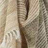"50""x60"" Stripe Throw Blanket Dark Beige - Rizzy Home - image 2 of 4"