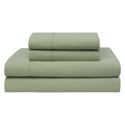 Wrinkle Free 420 Thread Count Cotton Sheet Set (Queen)Sage - Elite Home Products