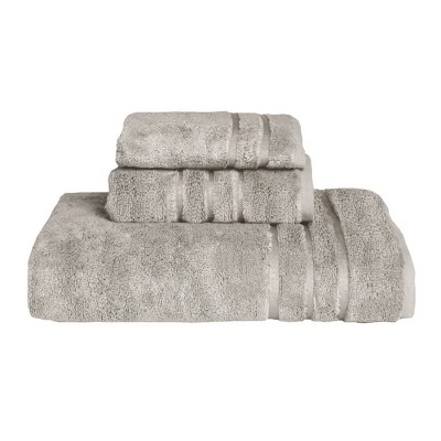 3pc Rayon from Bamboo Towel Set Gray - Cariloha