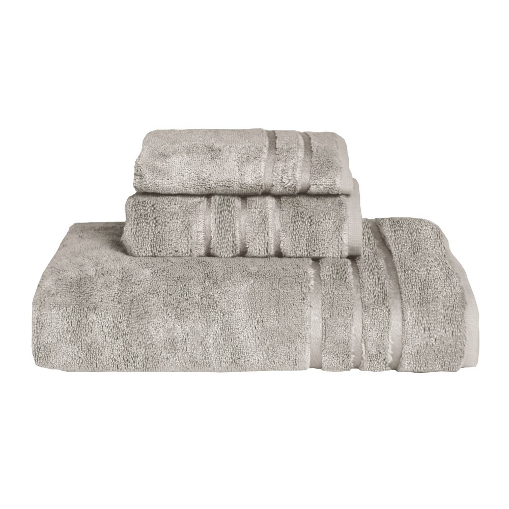 Image of 3pc Rayon from Bamboo Towel Set Gray - Cariloha