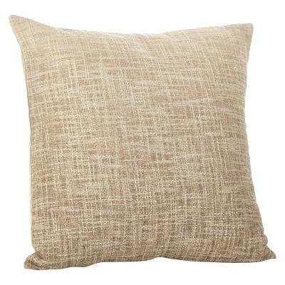 Light Brown Lancaster Ombre Design Throw Pillow (20 )- Saro Lifestyle®